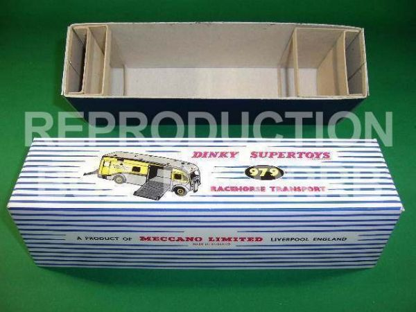 Dinky #979 Racehorse Transporter (Newmarket) - Reproduction Box